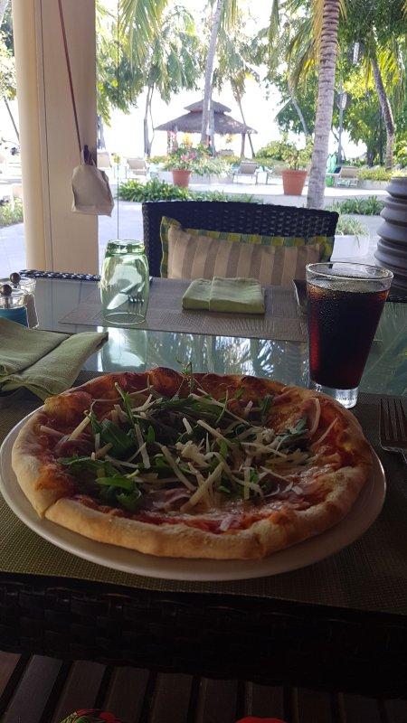 Pizza @ Cafe Kurumba Maldives